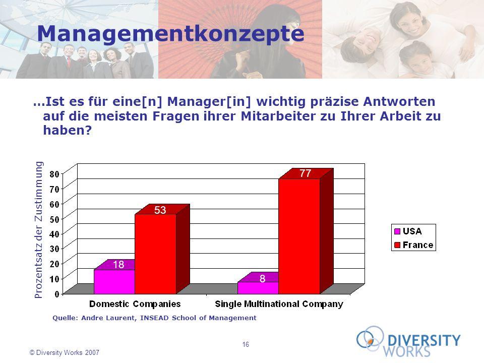 Managementkonzepte …Ist es für eine[n] Manager[in] wichtig präzise Antworten auf die meisten Fragen ihrer Mitarbeiter zu Ihrer Arbeit zu haben